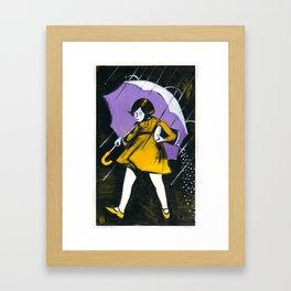 "Miss Morton (2010), 17"" x 27"", acrylic on gesso on chipboard Framed Art Print"