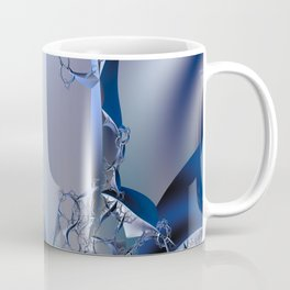 Abstract trees in icy moonlight illusion Coffee Mug