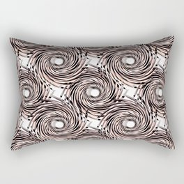 Abstract pattern. black,gray , beige pinstripes on a white background. Rectangular Pillow