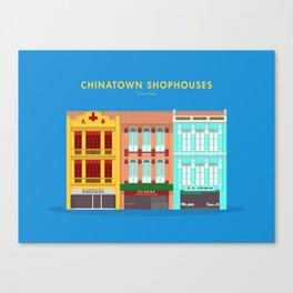 Chinatown Shophouses, Singapore [Building Singapore] Canvas Print