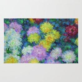 "Claude Monet ""Chrysanthemums"", 1897 Rug"