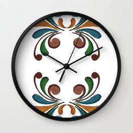 Colorful Watercolor Ornamental Pattern Wall Clock