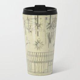 Vintage Architecture Illustration (1859) Travel Mug