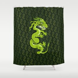 Jade Dragon Shower Curtain