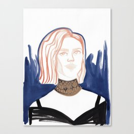 Evan with huge choker Canvas Print