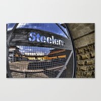 steelers Canvas Prints featuring steelers by LMFK