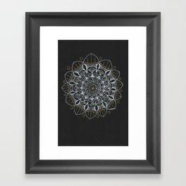 Mellifluous Mandala Framed Art Print