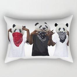Tres Bandana Pandas Rectangular Pillow