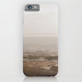 View from the top of the Masada, Israel iPhone Case