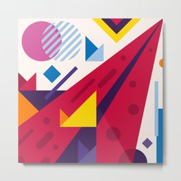 Abstract modern geometric background. Composition 18 Metal Print