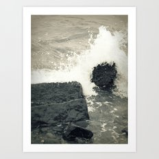 Crystal Waves 2 Art Print