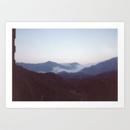 Fog in the Mountains Art Print