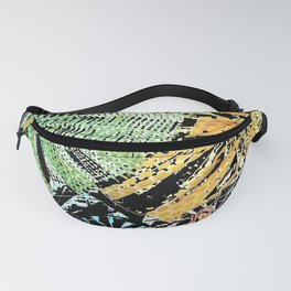 Tropical forest abstract digital painting Fanny Pack