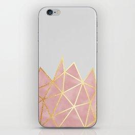 Pink & Gold Geometric iPhone Skin