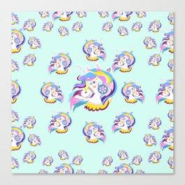 Magical Rainbow Unicorn pattern 04 Canvas Print