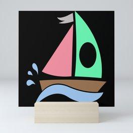 Boat Monogram Mini Art Print