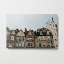Houses of Edinburgh | Colourful travel photography | Edinburgh, Scotland Metal Print