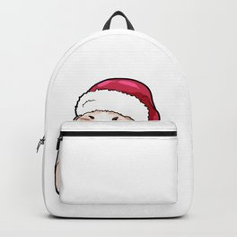 Shih Tzu Dog Christmas Hat Present Backpack