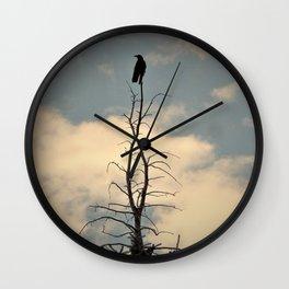 Raven's Perch Wall Clock
