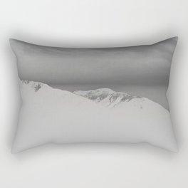 white mountain Rectangular Pillow