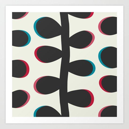 Like a Leaf [black] Art Print