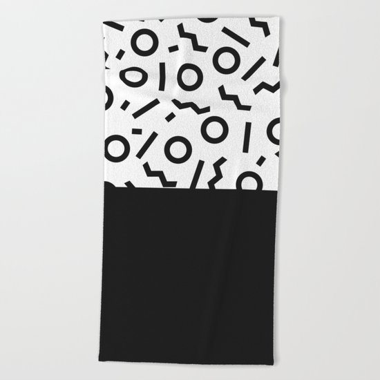 Memphis pattern 42 Beach Towel