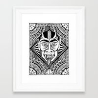devil Framed Art Prints featuring Devil by Cady Bogart