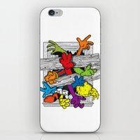 cartoons iPhone & iPod Skins featuring Cartoons Attack by luis pippi