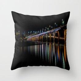 Banpo Bridge Fountain Throw Pillow
