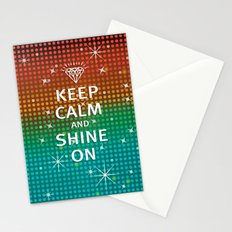Keep Calm and Shine On (You Crazy Diamond) Stationery Cards