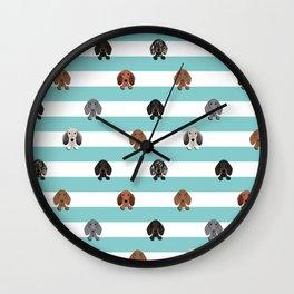 dachshund stripes dog breed doxie gifts Wall Clock