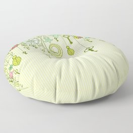 Garden Keys Floor Pillow