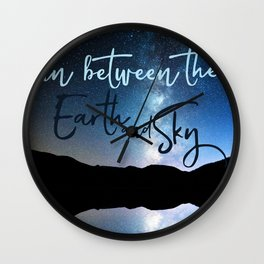In Between the Earth and Sky Wall Clock