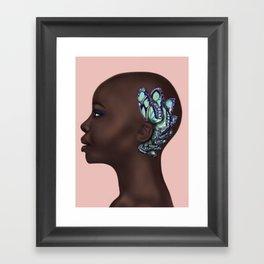 She hears butterflies Framed Art Print