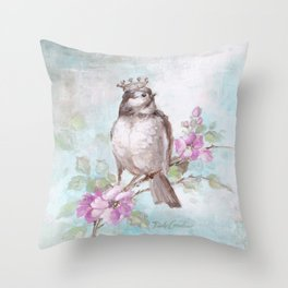 French Crown and Feather II Throw Pillow