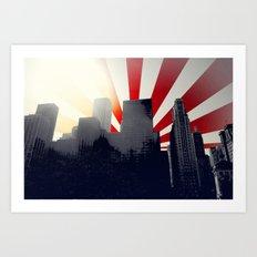Chicago Vector Cityscape Art Print