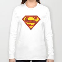superman Long Sleeve T-shirts featuring Superman by S.Levis