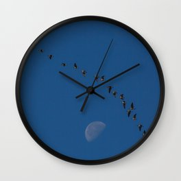Migration By The Moon Wall Clock