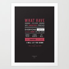 Lyrical Type - Hurt Art Print