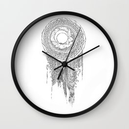 Shifting Moon Tide Dream Catcher Mandala Wall Clock