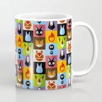calcifer Mugs featuring Miyazaki's by badOdds