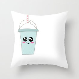 I Don't Give A Frappe Funny Iced Coffee Pun Throw Pillow