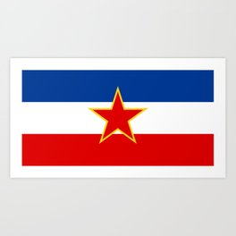 Flag of Yugoslavia Art Print