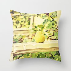 Fruit Pear in the Orchard Throw Pillow