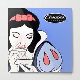 Snow White: Cocaine Attitude Metal Print