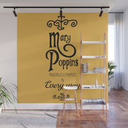Mary Poppins poster, minimalist movie, Julie Andrews cult film, alternative affiche, Supercalifragi Wall Mural