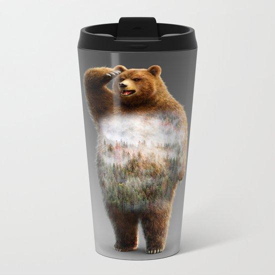 Chill Bear Metal Travel Mug