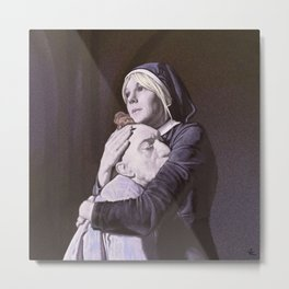 Sister Mary Eunice and Pepper. Metal Print