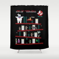 donkey Shower Curtains featuring Donkey Puft by Mike Handy Art