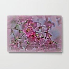 Pink Blossoms - paint rendition Metal Print